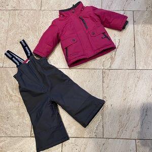 Other - OshKosh B'Gosh pink and gray snowsuit 2T